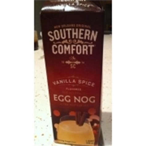 how to make southern comfort eggnog southern comfort egg nog vanilla spice flavored calories