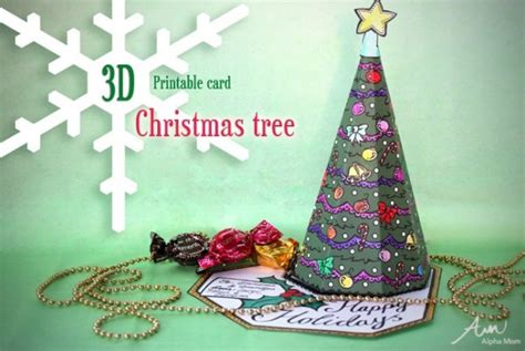 3d Christmas Tree Card Printable Allcrafts Free Crafts Update 3d Tree Card Template