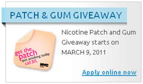 Nicotine Patch And Gum Giveaway - free nicotine patch and gum for nyc residents i crave freebies