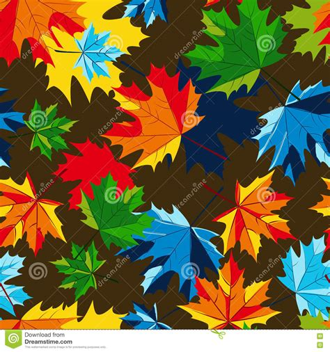 multicolor pattern leaves vector maple autumn leaves seamless pattern multicolor