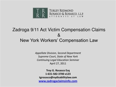 Ppt Zadroga 9 11 Act Victim Compensation Claims New