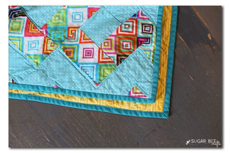 Mitered Corners On Quilt by Easy Zig Zag Colorful Quilt Sugar Bee Crafts