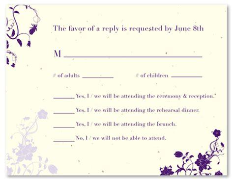 wedding rsvp wording and card etiquette shutterfly sample wedding