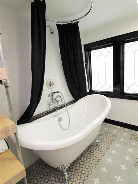 Yellow Black And White Bathroom by Photo Page Hgtv