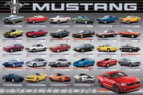 ford mustang 50 years of evolution photo by allposters ie