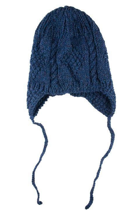 knitted helmet knitted aran helmet hat with ties by scotweb