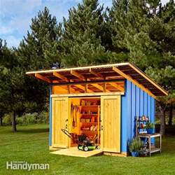 shed plans storage shed plans the family handyman cheap garden shed designs building within your budget