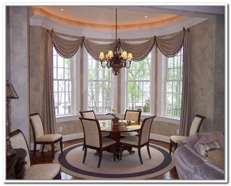 curtains for bay windows in dining room dining room curtains and valances curtain menzilperde net
