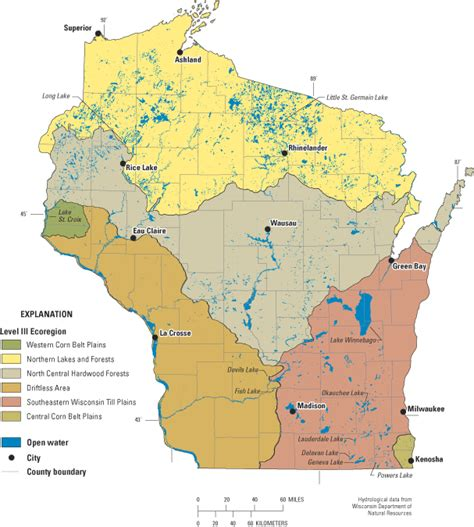 wisconsin lakes map why study lakes an overview of usgs lake studies in wisconsin