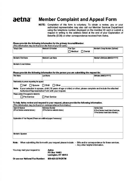 Grievance Appeal Letter Template Free sle aetna appeal letter docoments ojazlink