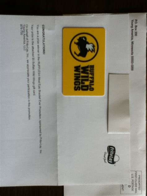 Buffalo Wild Wings Gift Card Promotion - won a 5 buffalo wild wings gift card winner in the ruffles most epic bracket ever