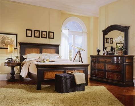 Preston Ridge Panel Bed 6 Piece Bedroom Set In Two Tone Two Tone Bedroom Furniture