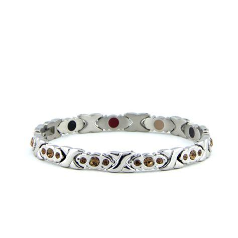 negative ion wrist band bracelet purlife swarovski silver