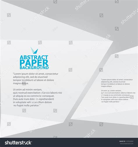 thesis abstract deutsch abstract white paper origami background vector stock