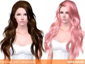 sims 3 hairstyle cheats newsea s j183 titanium hairstyle retextured by sims hairs