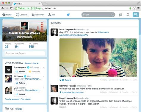 twitter layout android twitter rolling out refreshed site to match design of its