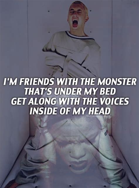 monsters under my bed lyrics eminem monster featuring rihanna eminem pinterest