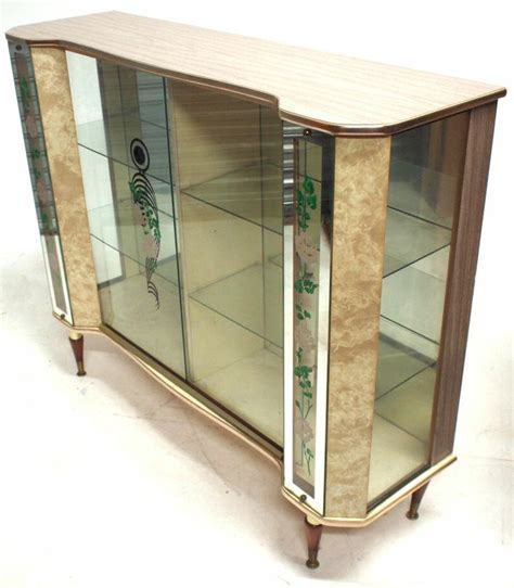 Ornate Display Cabinets by Vintage Ornate Glass Display Cabinet Retro Cocktail