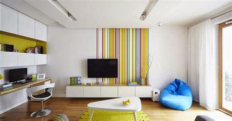 desain grafis ruang warna warna cerah dalam desain ruang apartemen warsawa