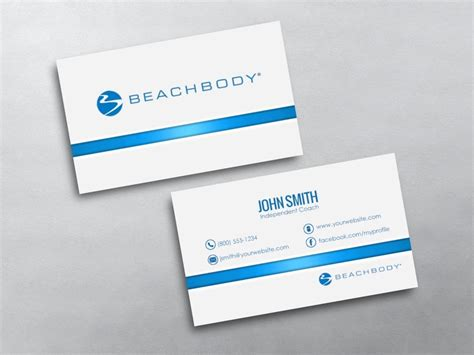 beachbody business cards templates beachbody business cards free shipping