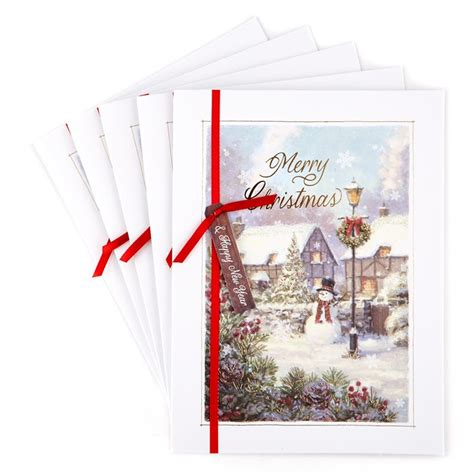 deluxe boxed christmas cards snowman pack   card factory