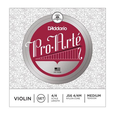 D Addario Pro Arte Violin Strings - d addario d addario j56 4 4m pro arte violin string set 4