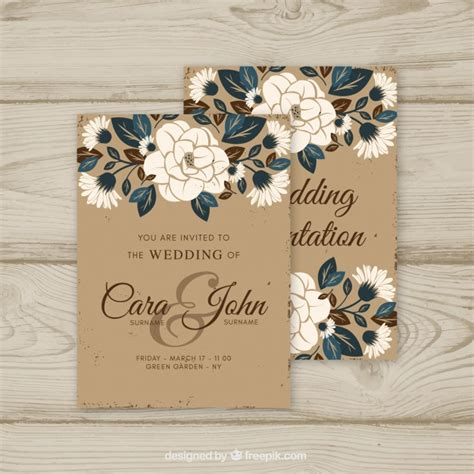 vintage themed wedding stationery wedding invitation in vintage style vector free