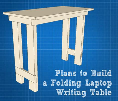 folding lap desk plans folding laptop writing table tutorial dremelmaker