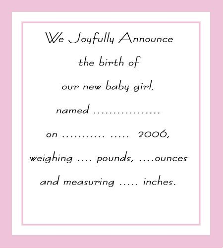 Create Free Printable Birth Announcements Birth Announcements Templates Birth Announcement Template Free Printable