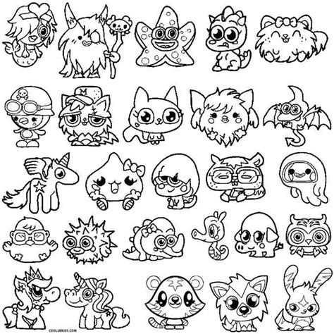 Printable Moshi Monsters Coloring Pages For Kids Cool2bkids Moshling Colouring Pages