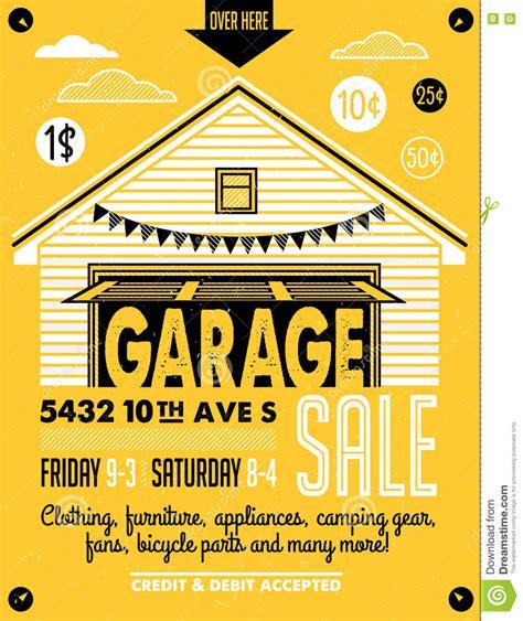 Vintage Garage Sale by Garage Sale Poster Stock Vector Image 73328262