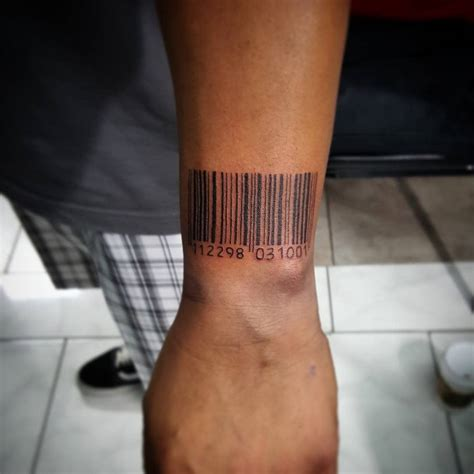 barcode tattoos for men barcode on for creativefan