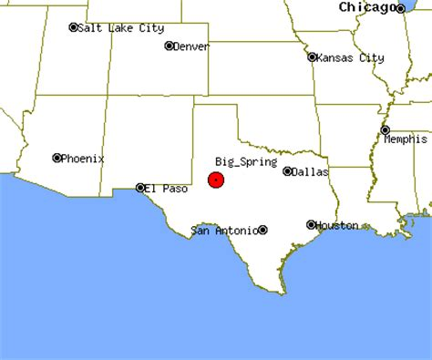 big springs texas map texas map my