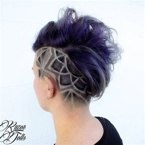 halloween haircut designs 25 best ideas about shaved hair designs on pinterest