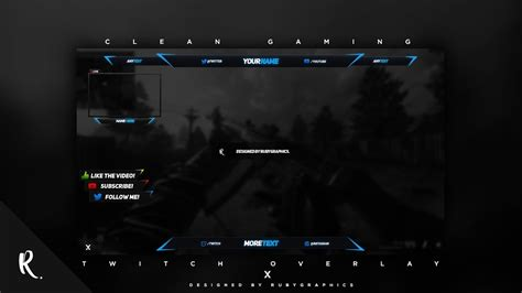overlay templates for photoshop free photoshop video overlay template twitch gaming