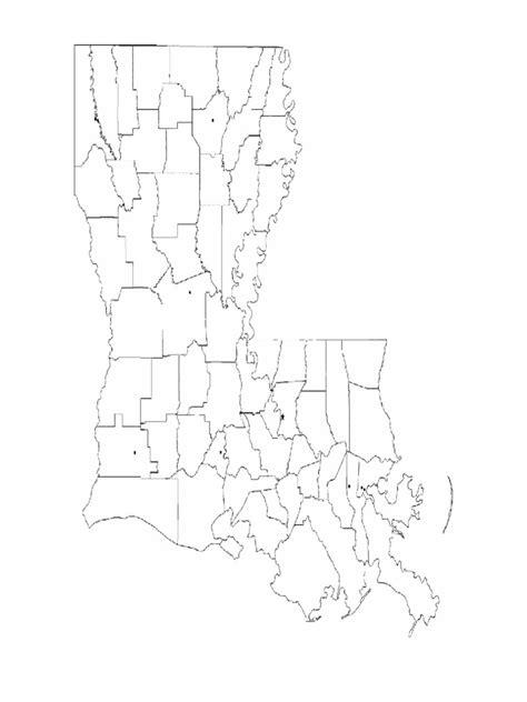 louisiana map blank louisiana map template 8 free templates in pdf word