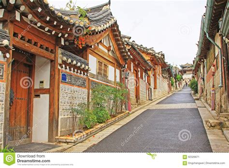 House Seoul South Korea Asia bukchon hanok seoul south korea stock image