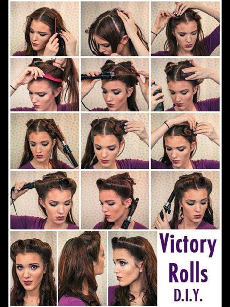step by step pinup hairstyle vintage pin up hair