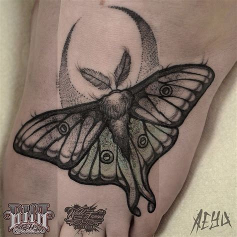 luna moth tattoo moth and crescent moon inkspiration