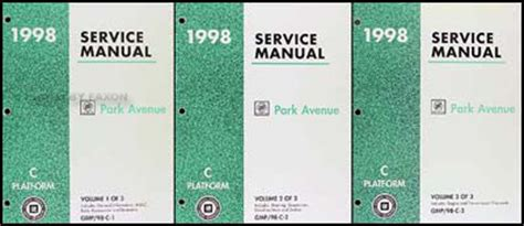 service and repair manuals 1991 buick park avenue navigation system 1998 buick park avenue shop manual 3 vol set 98 repair service original books ebay