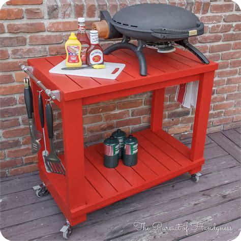 tabletop grill cart diy