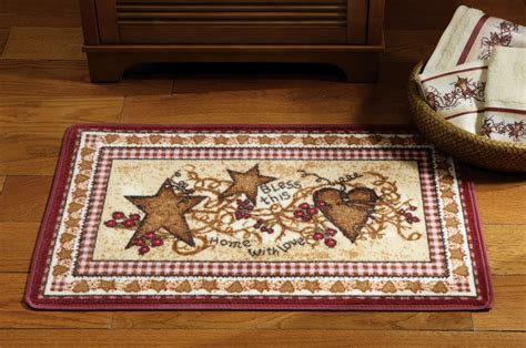 Primitive Kitchen Rugs Primitive Country Hearts And Bathroom Accent Rug