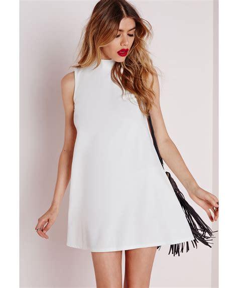 white swing dress white swing dress dress yp