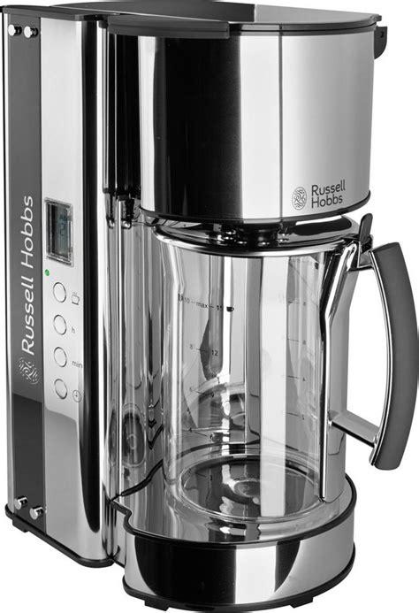 russell hobbs glas kaffeemaschine black glass
