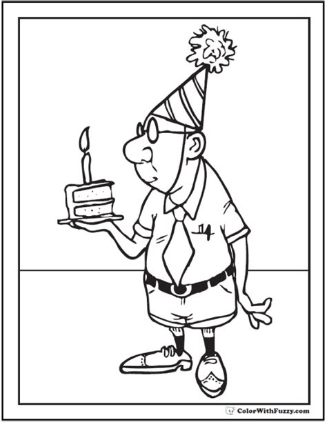 birthday coloring page for grandpa 55 birthday coloring pages customizable pdf