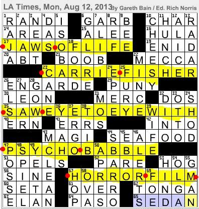 another word for gossip spreader l a times crossword corner monday