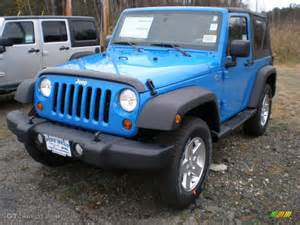 Bright Blue Jeep Wrangler 2012 Cosmos Blue Jeep Wrangler Sport S 4x4 56789181