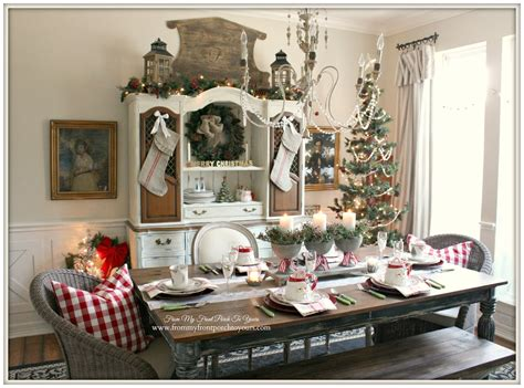 dining table for 8 rustic decorated christmas trees from my front porch to yours french farmhouse vintage