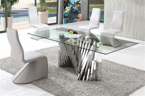modern glass dining table entertain your guests with dining table midcityeast