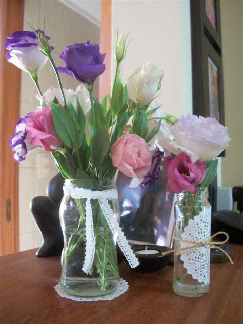 floreros con frascos floreros con frascos spring pinterest vintage